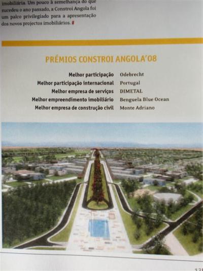 Prémios: Constrói Angola 2008